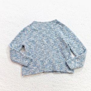 Eileen Fisher textured mock neck wool sweater XL